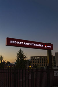 Red Hat Amphitheater Exterior Signage