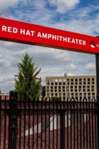 Red Hat Amphitheater Exterior Signage During the Day