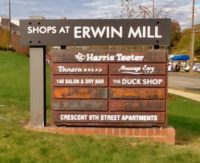 Capital Sign Solutions Shops of Erwin Mill Monument Sign