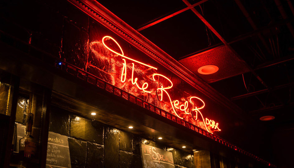 the red room sign