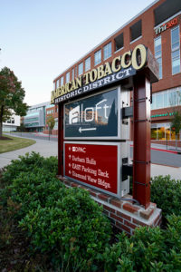 Capital Sign Solutions - American Tobacco Campus directional