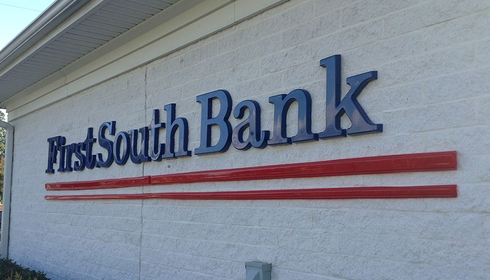 first south bank sign
