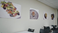 newrest pictures of food on the wall