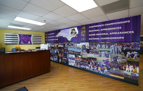 Capital Sign Solutions - East Carolina University baseball interior signage