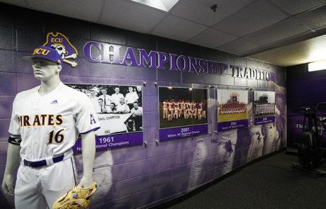Capital Sign Solutions - East Carolina University baseball interior signage