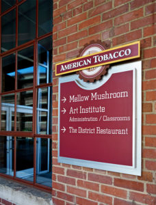 Capital Sign Solutions - American Tobacco Campus Wayfinding 3