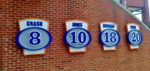 Capital Sign Solutions - Durham Bulls retired jersey numbers