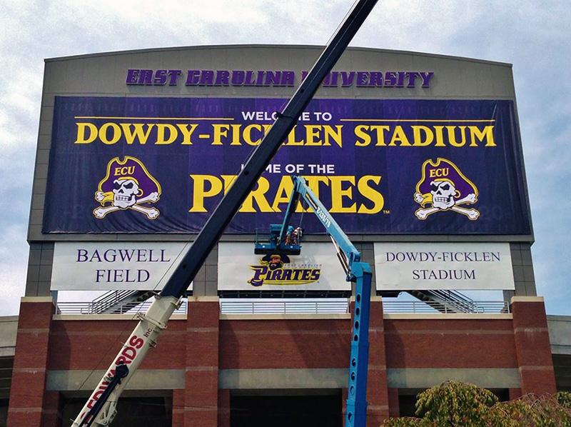 Capital Sign Solutions - ECU Baseball Pirates Banner