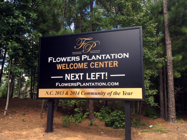 Capital Sign Solutions - Flowers Plantation Banner