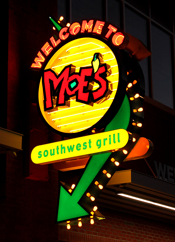 Capital Sign Solutions - Moe's Southwest Grill blade sign